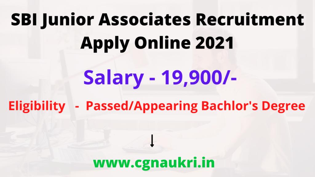 SBI Junior Associates Recruitment